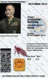 General Joseph F Dunford JR Identity Card-1
