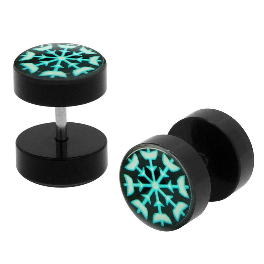 2x10 mm Fakeplugs Fake Plug Fakes Tunnel Ear Stud Earring