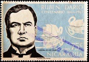ruben dario centenario estampilla-1967