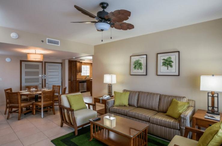 Eagle Aruba Resort new large living room quarters