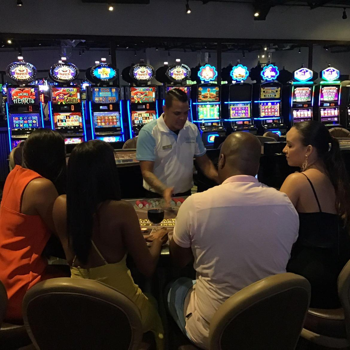 Casino time at Eage Beach Resort and Casino