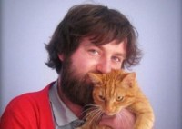 Adam Laughlin - snuggling a cat