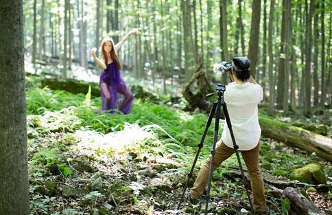 nü Icon filming with Christina Szegedi