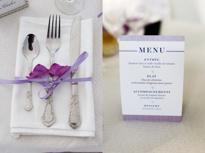 mariage-moulin-des-noues-soicy-sur-ecole-essonne-decoration-menu-couverts-argent-theme-violet-photographe-soul-bliss