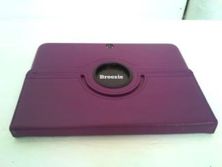 Folded Breezie tablet on a table