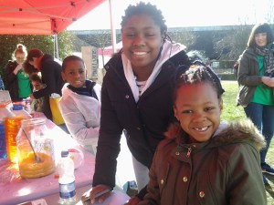 photo of children at the dazzle stall