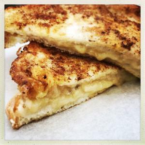 banana cinnamon French toast for breakfast