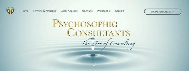 Ausbildung zum Psychosophic Consultant - www.psychosophics.de