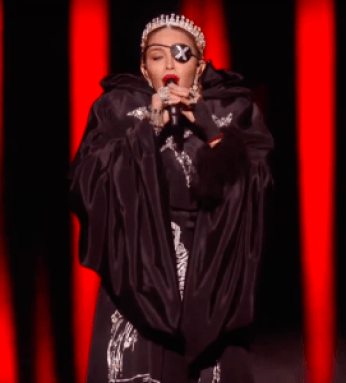 Mono-Eye, X-tinction, Madonna als Todesgöttin - Tina Wiegand - Soulfit - Screenshot Telegram Video Schlaglichter Achim Klein