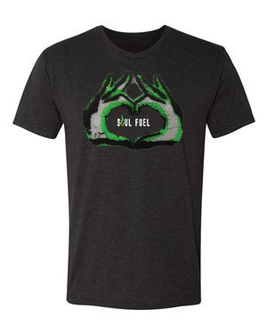 Soul Fuel Short Sleeve Crew Black Neon Green