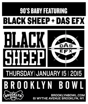 Black Sheep + Das Efx + Chi Ali Live at Brooklyn Bowl on January 15, 2015 in Brooklyn, NY [EVENT RECAP] by Amber Magruder