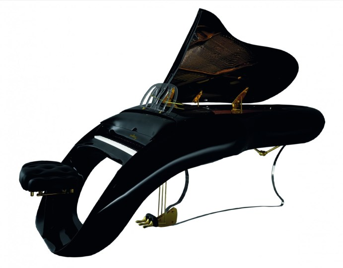 The model of piano that Prince has at Paisley Park.