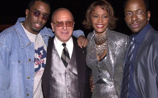 Sean Combs, Clive Davis, Whitney Houston, Bobby Brown