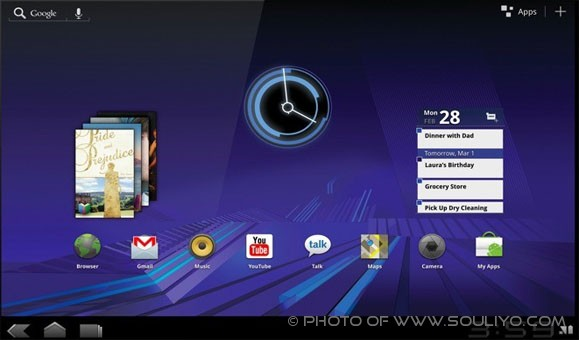 Android 3.0 Honeycomb ເຜີຍໂຕຢ່າງເປັນທາງການແລ້ວ