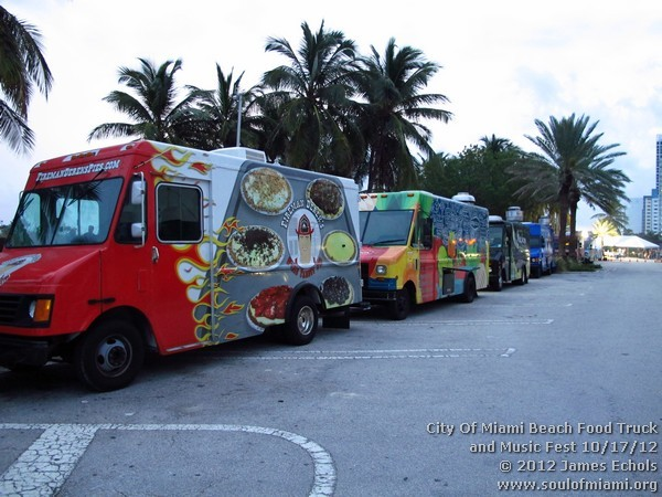Photographs Of City Of Miami Beach Food Truck And Music Fest On 10