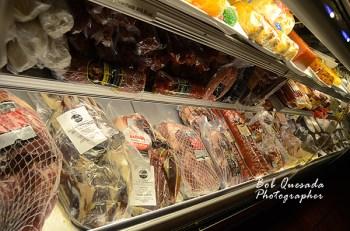 Great variety of hams.