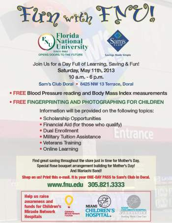 Flyer-FUN-with-FNU-at-Sams-Club-Doral_May-1
