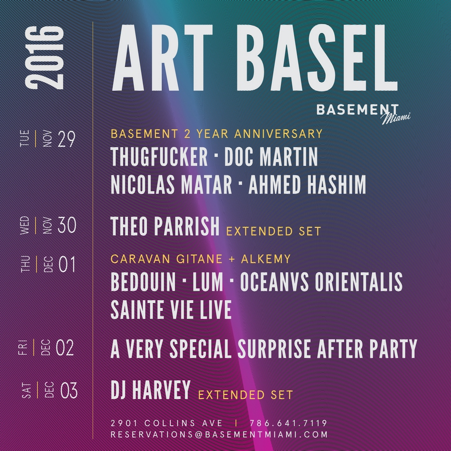 Art Basel @ Basement Miami - Stellar Lineup & Rad Art ...
