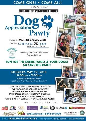 Subaru Of Pembroke Pines >> Subaru Of Pembroke Pines Dog Appreciation Pawty 5 19 18