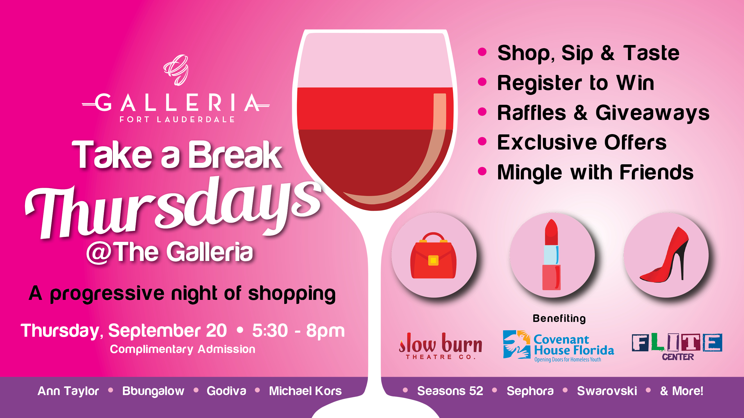 Take A Break Thursdays Shopping Benefit At The Galleria At Fort