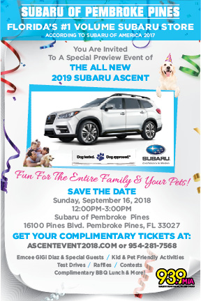 Subaru Of Pembroke Pines >> Subaru Of Pembroke Pines Official Subaru Ascent Launch Event 9 16 18