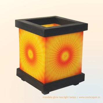 Aum Vibration Tea Light Lamp