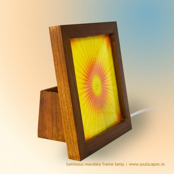 Aum Vibration Mandala Luminous Frame Lamp