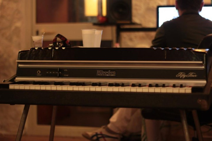 Inside the Orange Bug Studios, an original Fender Rhodes