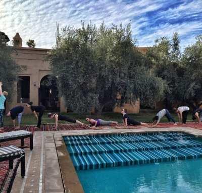 luxury yoga retreat at Peacock Pavillions