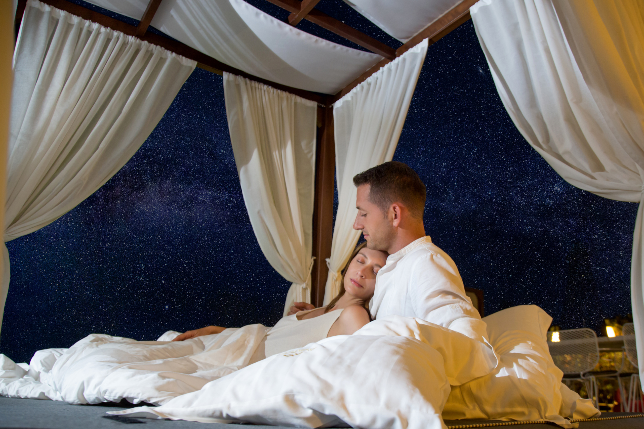 sleep under stars-add stars