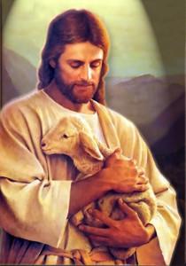 Jesus-shepherd-holds-lamb-in-arms