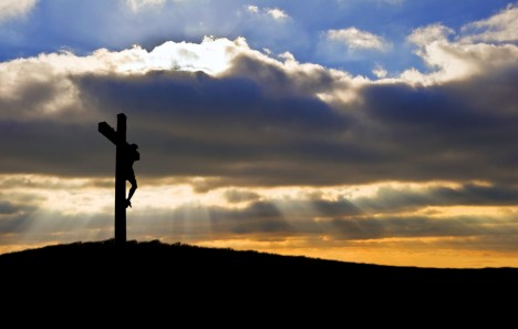 Christ-on-Cross-Clouds-Sunlight