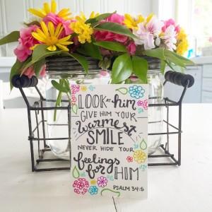Psalm 34:5 Flowers