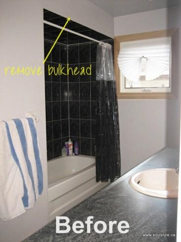 BEFORE shower bulkhead