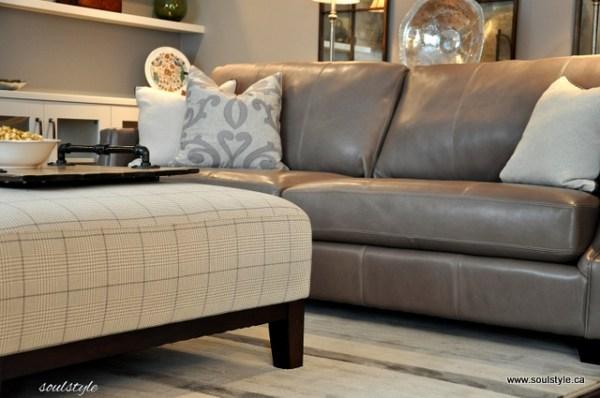 Family Room Upholstered Ottoman