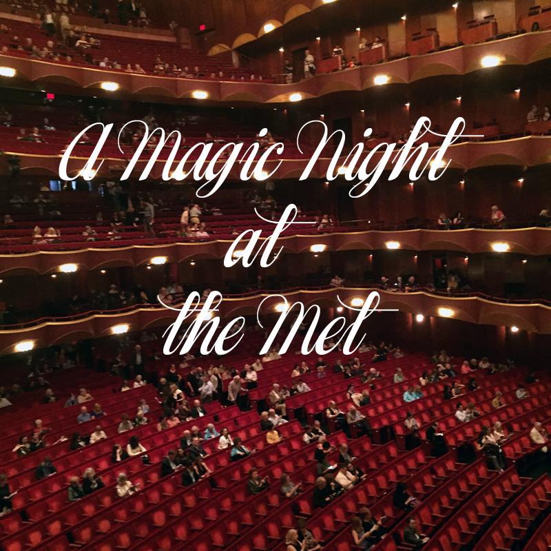 A night at the Metropolitan Opera in New York