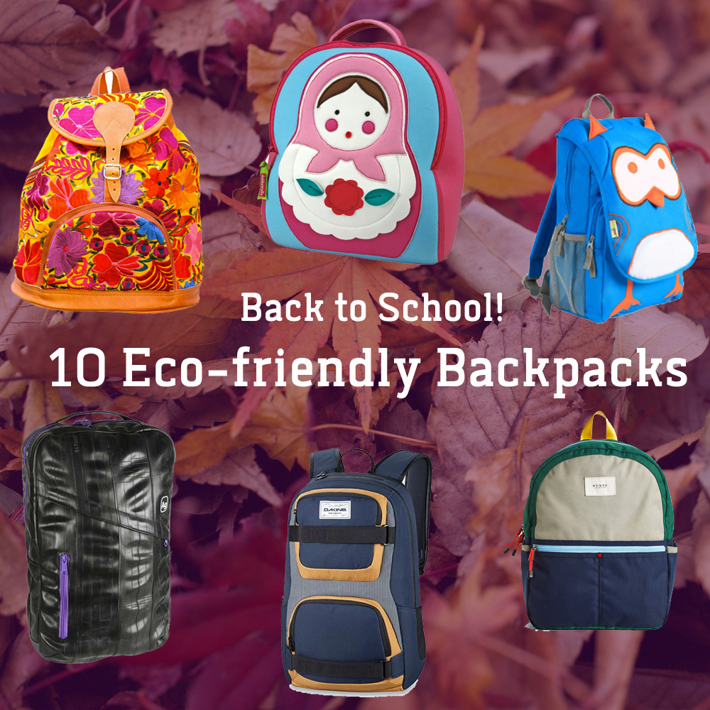 back to school eco-friendly backpacks