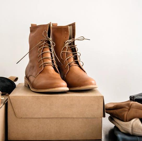 Ethical fair trade leather boots for women