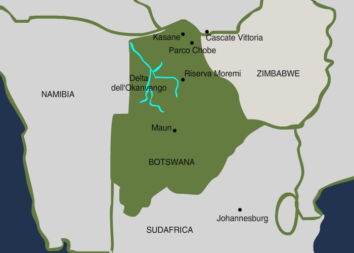 mappa Botswana