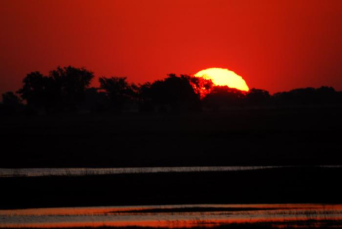Badlands e il sole rosso