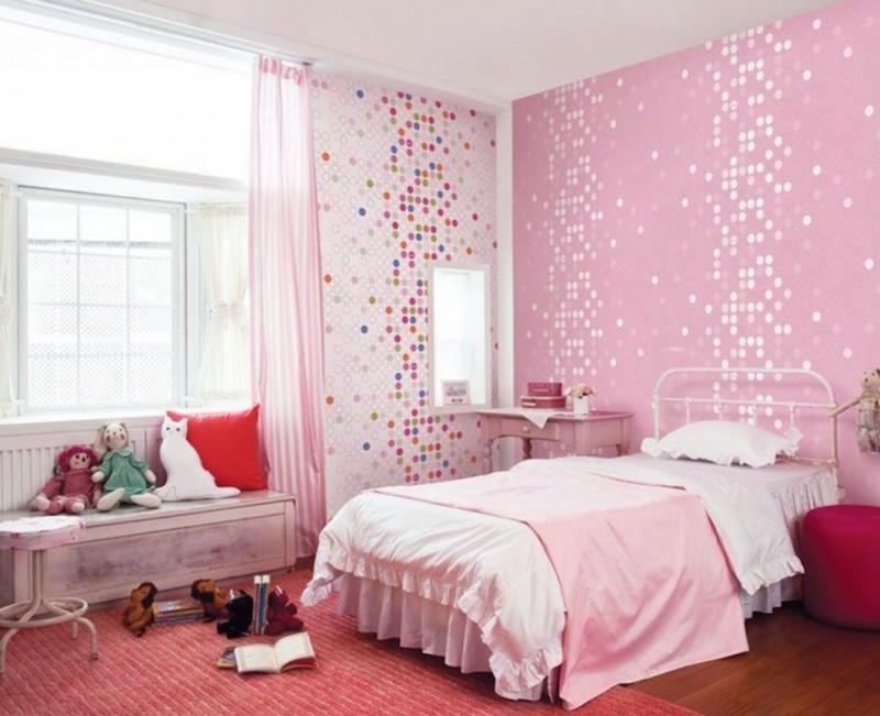 papel-de-parede-quarto-infantil-bolinhas