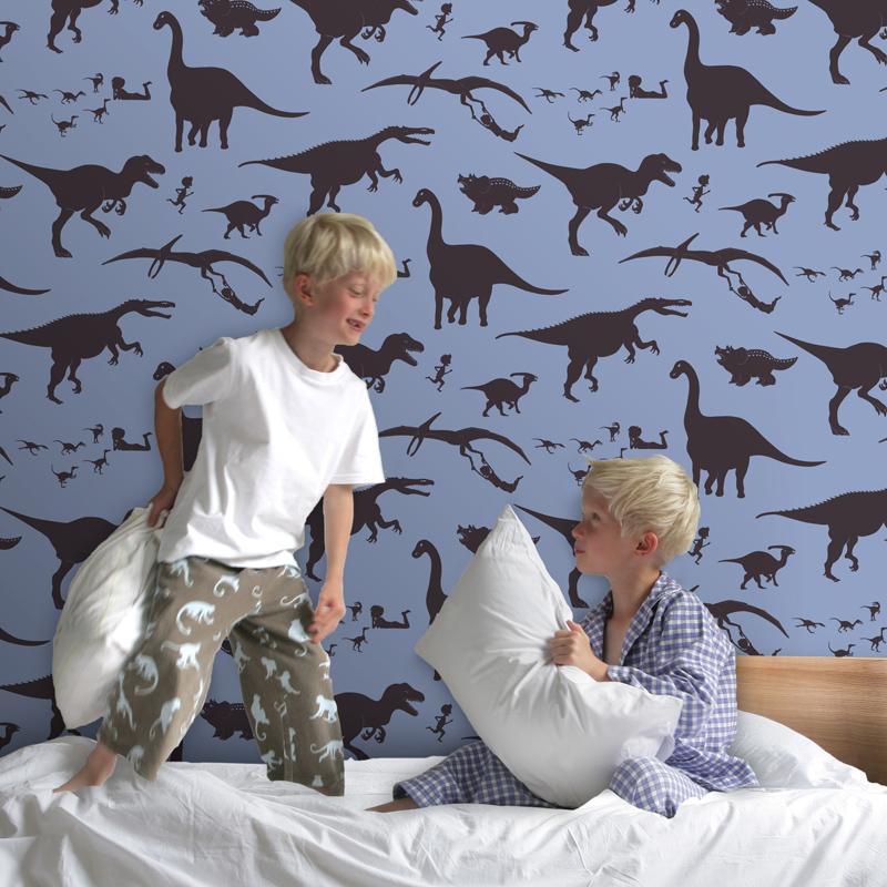 papel-de-parede-quarto-infantil-dinossauro