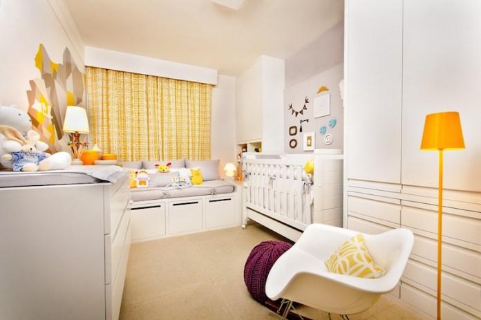 cortinas-para-quarto-de-bebê-amarelo