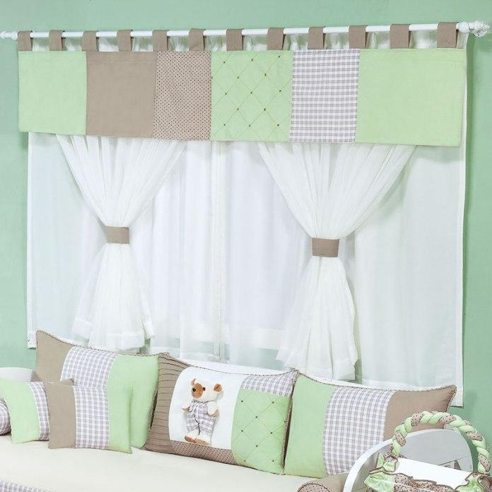 cortinas-para-quarto-de-bebê-marrom