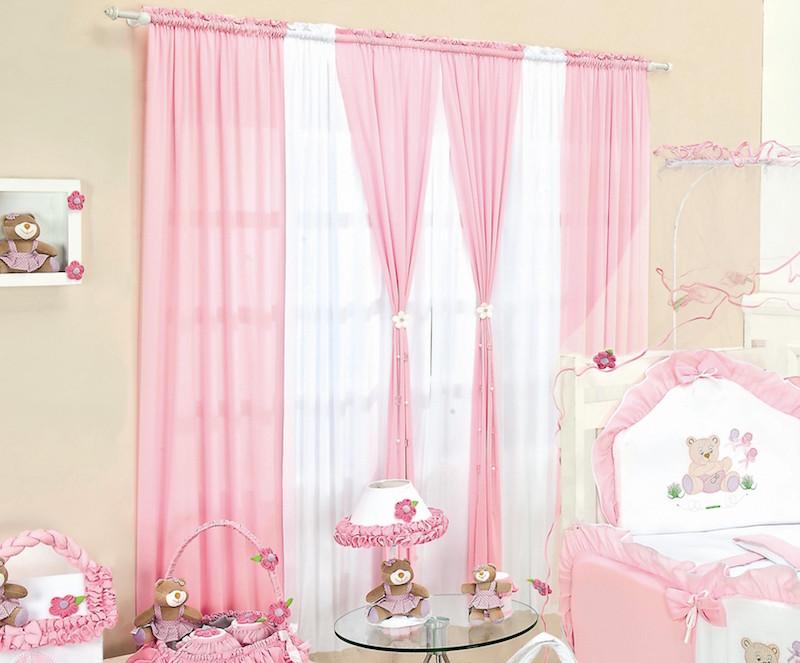 28 ideias de cortinas para quarto de bebs