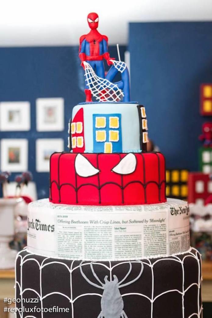 festa-infantil-homem-aranha-bolo