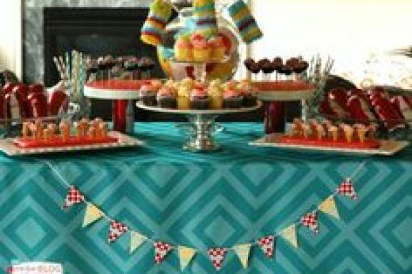 festa infantil caseira mesa