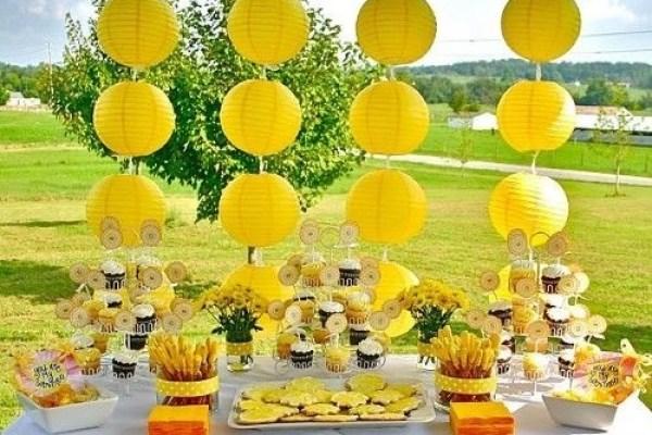 festa infantil primavera amarela