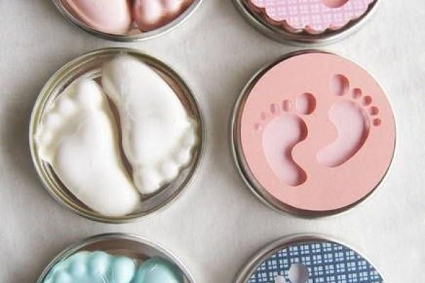 lembrancinha de chá de bebê pezinhos