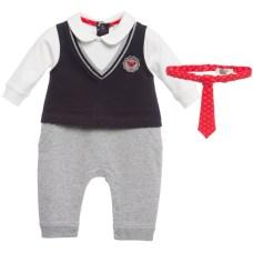 bebê boutique macacão sem gravata armani